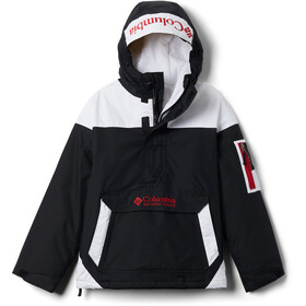 Columbia Challenger Pullover Jacke Kinder black/white/mountain red
